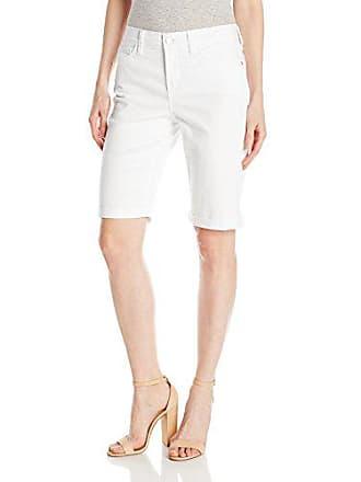 1438c8a93b NYDJ Womens Petite Size Briella Roll Cuff Jean Short in Colored Bull Denim,  Optic White