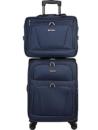 World Traveler Embarque Lightweight 2-Piece Carry-on Spinner Luggage Set-Navy