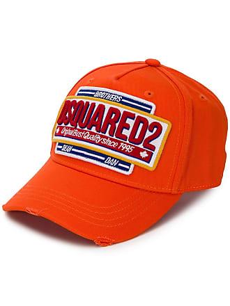 2dd5032b3b5 Dsquared2 logo patch baseball cap - Orange