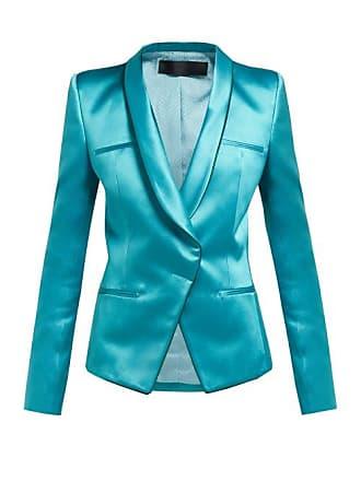 Haider Ackermann Single Breasted Wrap Duchess Satin Blazer - Womens - Blue
