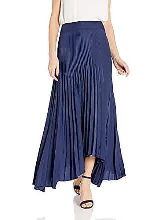 Ramy Brook Womens Maxine Pleated Maxi Skirt, Spring Navy, 8