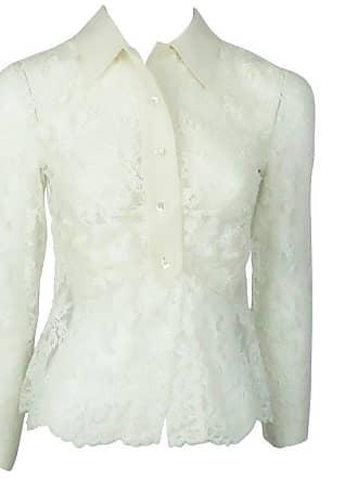 c55f56fb960e87 Valentino Ivory Lace And Silk Top - Small