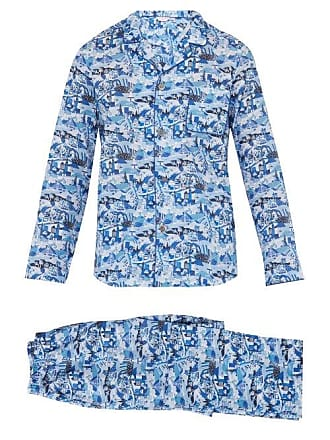 a01d6c36c9 Derek Rose Ledbury City Print Cotton Pyjama Set - Mens - Blue