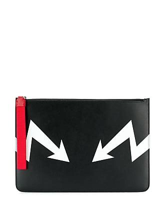 Neil Barrett large arrow bolt pouch - Preto