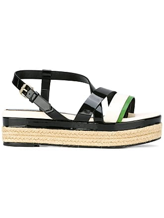 d69ec7dc4f62 Lanvin strap detail wedge sandals - Black