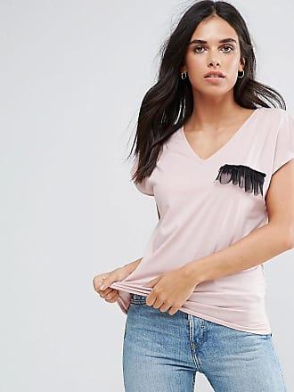 Vila Tulle Ruffle T-Shirt-Multi
