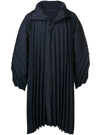 Homme Plissé Issey Miyake pleated oversized coat - Blue