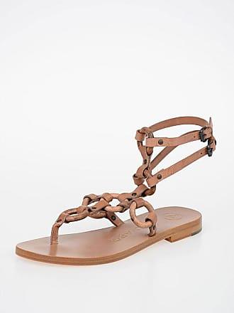 ÁLVARO GONZÁLEZ Leather flip flops ANDORRA Sandals size 38,5