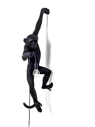 Seletti MONKEY-Applique dextérieur Singe accroché H76,5cm Noir Seletti - designé par Marcantonio Raimondi Malerba