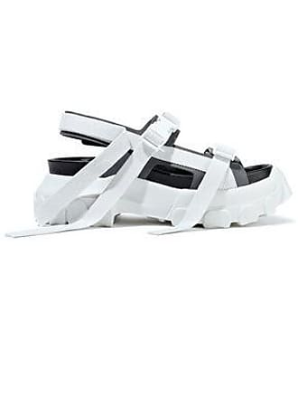 5e324c23f Rick Owens Rick Owens Woman Sisyphus Hiking Leather Platform Sandals White  Size 39