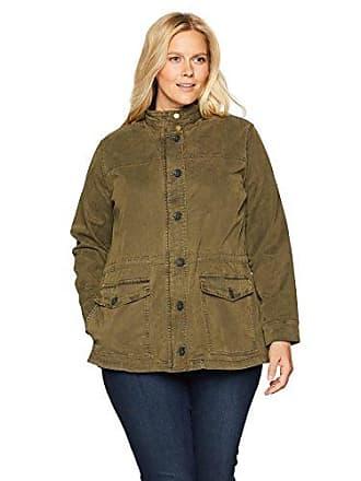 Lucky Brand Womens Plus Size Utility Jacket, Olive Night, 3X