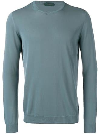 Zanone crew neck sweater - Blue