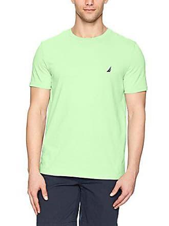 Nautica Mens Short Sleeve Solid Crew Neck T-Shirt, Patina Green, Small