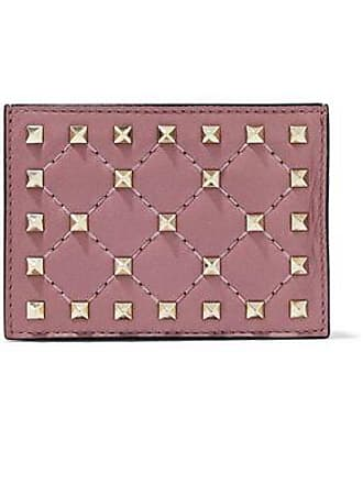 59c321558e Valentino Valentino Garavani Woman Rockstud Spike Quilted Leather  Cardholder Lilac Size