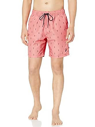20881c7d2a806 Nautica Mens Quick Dry All Over Classic Anchor Print Swim Trunk, Pale  Coral, XX