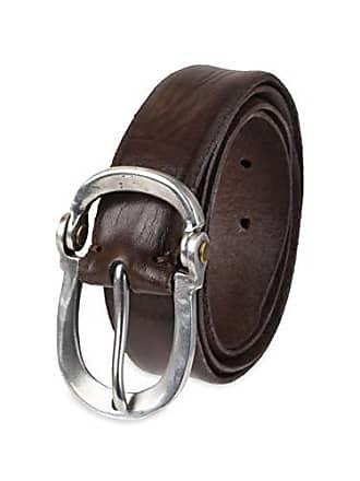 John Varvatos Leather Belts for Men Dress Casual for Jeans, Brown, 36
