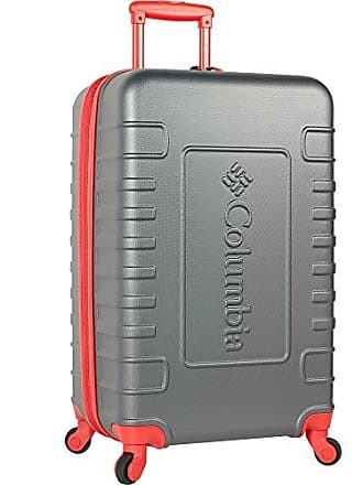Columbia Carry-On Hardside Expandable Spinner Luggage, Red