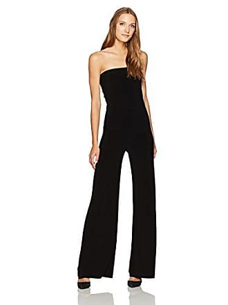 Norma Kamali Womens Strapless Jumpsuit, Black, XL