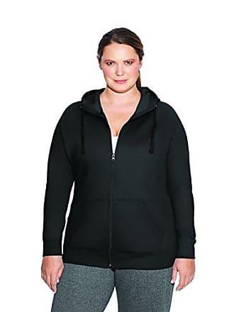 8fba22e8490 Champion Womens Plus-Size Powerblend Plus Fleece Full Zip Hoodie Sweater