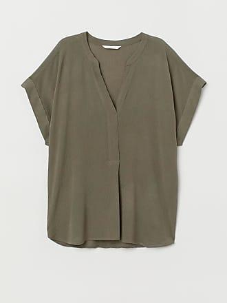 H&M Crinkled Blouse - Green