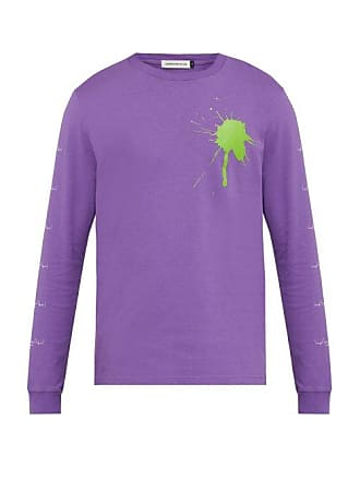 Undercover The Larms Splat Cotton Jersey T Shirt - Mens - Purple