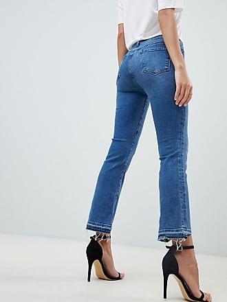 ea94ec78e378 J Brand Selena mid blue wash mid rise crop boot cut jean with stepped hem -