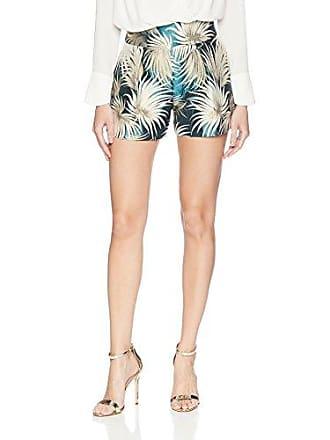 Nicole Miller Womens Palm Leaf Jacquard Shorts, Multi, 10