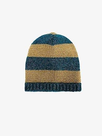 ffa42f1e Gucci blue and mustard yellow striped knit beanie
