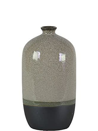 Urban Trends Collection Urban Trends 11422 Stoneware Bottle Vase with Small Mouth, Gray