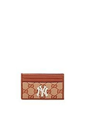7ef6629d68b Gucci Mens NY Yankees GG Supreme Card Case - Brown