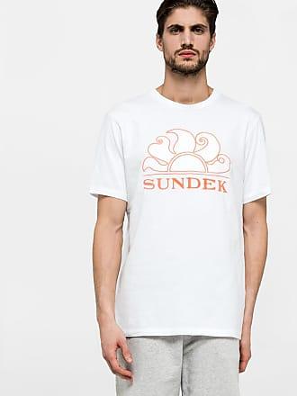 Sundek scoop neck t-shirt with embroidery logo