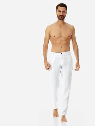 Vilebrequin Men Ready to Wear - Men straight Linen Pants Solid - PANT - PANACHE - White - XXXL - Vilebrequin