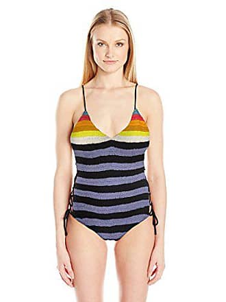 3723d1b88bd8f Mara Hoffman Womens Organic Cotton Crochet Lace-up One Piece Swimsuit