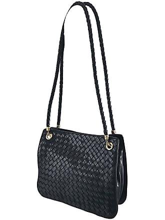 839ba401cd2a Bottega Veneta Vintage Classic Black Woven Napa Leather Shoulder Bag Purse  Tote