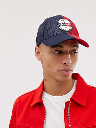 6c479c7620684 Tommy Jeans mesh baseball cap with signature logo in navy