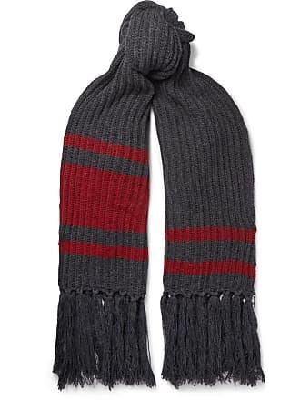 Balenciaga Fringed Virgin Wool Scarf - Gray