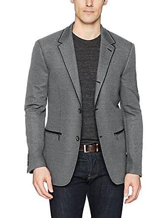 John Varvatos Star USA Mens Soft Jacket, Black/White, 44