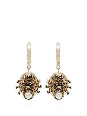 Alexander McQueen Alexander Mcqueen - Spider Embellished Drop Earrings - Womens - Silver