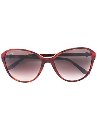 9cefc8df834 Cartier Óculos de sol modelo Double C Decor - Vermelho