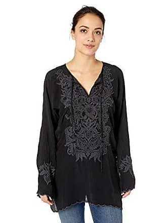 08918658f8cf4 Johnny Was Womens 3 4 Sleeve Keyhold Embroidered Tunic