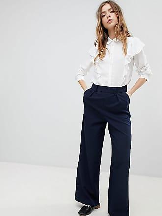 d20edaa6451e0a Asos Petite ASOS DESIGN - Petite - Weit geschnittene Hose mit Zierfalten -  Navy