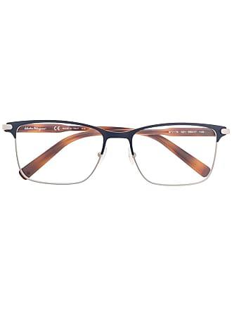 Salvatore Ferragamo Armação de óculos quadrada - Azul