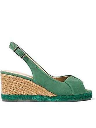b74e7cd502c12 Castaner Castañer Woman Brianda Twisted Canvas Wedge Slingback Sandals Green  Size 38