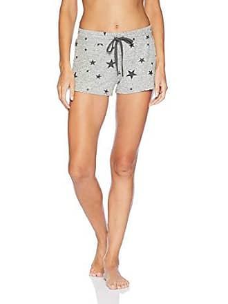 PJ Salvage Womens Printed Lounge Pajama Short, Grey Black Stars, X-Small