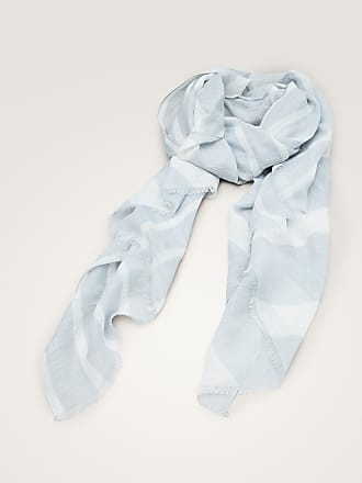 MASSIMO DUTTI STRIPED LINEN AND COTTON SCARF