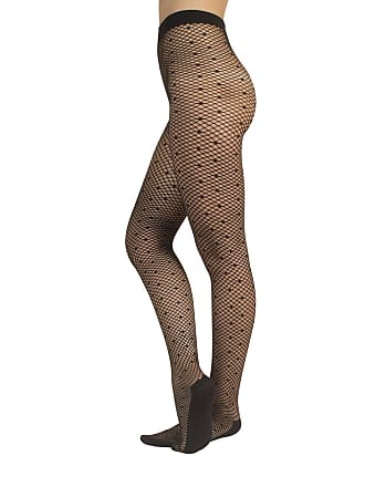 8aaba3cca4779 CALZITALY Fishnet Tights with Polka Dots | Spotty Pantyhose Fishnet Pattern  | Black | S/
