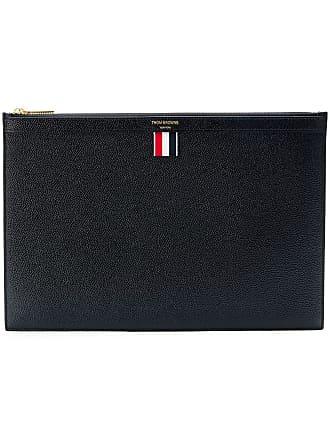 Thom Browne flat logo clutch - Black