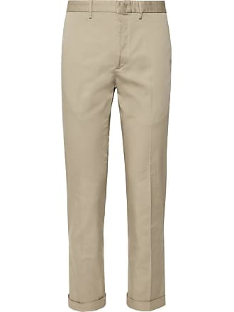 Incotex Slim-fit Stretch-cotton Gabardine Trousers - Tan