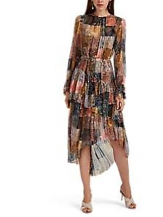 a33707b6eb Zimmermann Womens Multi-Paisley Silk Chiffon High-Low Dress Size 3