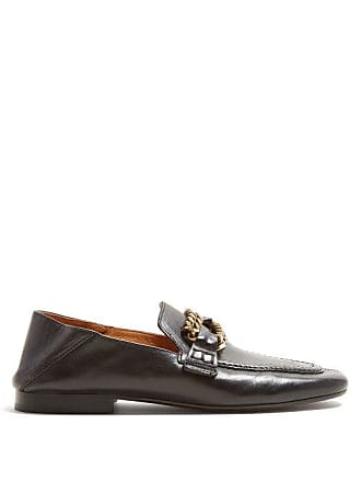 dbdc6d4f5a1 Isabel Marant Firlee Chain Trimmed Leather Loafers - Womens - Black